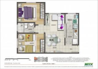 Santo André: Apartamento 45 m² em Mauá – Parque São Vicente  2