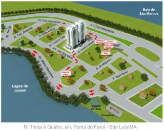 São Luis: Apartamento na Ponta do Farol/Ed. Vila Lagoa 1
