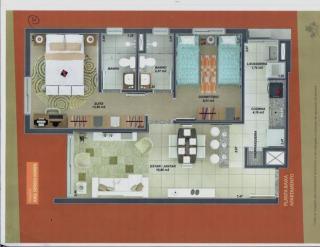 Porto Alegre: Apartamento 2 dormitório frente suite garagem 2