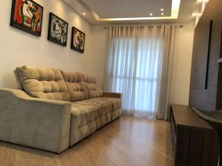 Apartamento 2 Dormitórios 71 m² Condomínio Ânima Clube, São Bernardo do Campo - Vila Lusitânia. Sala 2 ambientes com sacada, cozinha americana, 2 dormitórios sendo 1 suíte, 1 vaga. Móveis planejados d