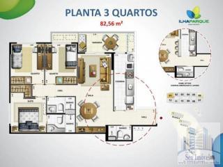 São Luis: Apartamentos 03 Quartos no Condomínio Ilha Park- Venha Morar Bem. 30