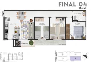 Joinville: Apartamento no Saguaçu, de 2 e 3 quartos 8