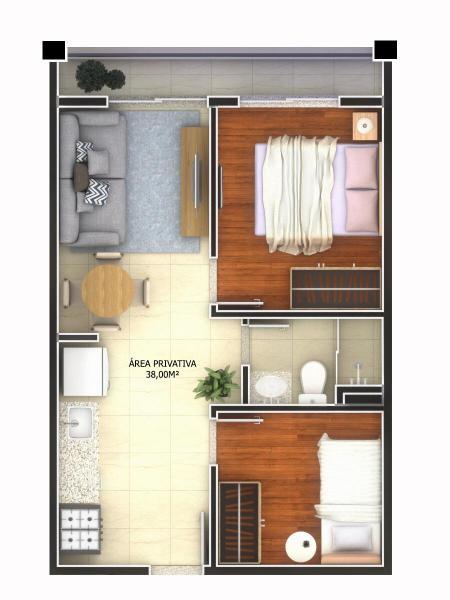 São Paulo: Lancamento Apartamentos 1 ou 2 quartos, ate 40 m2 3