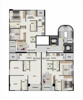 Jaboatão dos Guararapes: Apto 2 quartos, 1 suíte, 55 m², em Candeias - Edifício Elis Regina 3