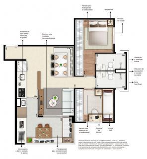 São Paulo: Apartamento 61m², 2 dormitórios sendo 1 suíte, 1 vaga Jardim Prudência 13