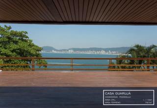 São Paulo: Luxuosa Villa em Guarujá com 5 suítes e área construída de 1.100 m², no Condomínio Península 4