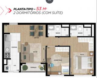 Guarulhos: Apartamento 2 dormitórios 1 suíte 1 vaga de garagem - Liberdade 10