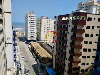 Praia Grande: TOP- Vista Mar, Apartamento 2 Dormitorios, Elevador, Portaria- 180 mil - Financia 5