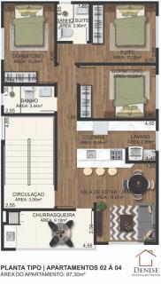 Barra Velha: Apartamento novo com 3 quartos no centro de Piçarras, aceita entrada e financiamento bancário 3