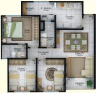 Uberlândia: Apartamentos três dormits. com suíte 73m² privativos Uberlândia 1