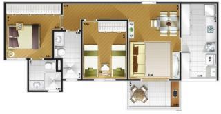 Guarulhos: Apartamento em Guarulhos  2 e 3 dorms com Suite - Condominio de Alto Padrão 2