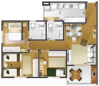Guarulhos: Apartamento em Guarulhos  2 e 3 dorms com Suite - Condominio de Alto Padrão 3