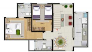 São José dos Campos: Cobertura Duplex 2 Dorm`s Suite 109m² Jardim Terras do Sul - Zona Sul 5