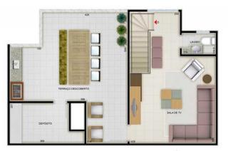 São José dos Campos: Cobertura Duplex 2 Dorm`s Suite 109m² Jardim Terras do Sul - Zona Sul 6