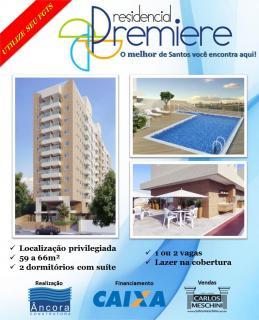 Santos: Apartamentos de 2 Dormitórios em Santos/SP 1
