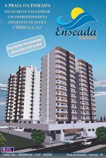 Guarujá: Flat no Guarujá na praia da Enseada 1