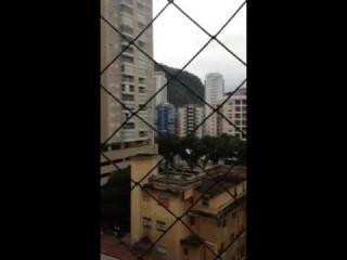 Santos: Apto mobiliado na av da praia em Santos