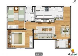 Vargem Grande Paulista: Apartamento com 2 Quartos à Venda, 50 m² por R$ 200.000 2