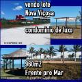 Nova Viçosa: Terreno frente pro mar/ Condomínio