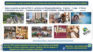 Campinas: Apartamento a Venda na planta em vários Bairros Campinas e região 1