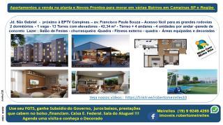 Campinas: Apartamento a Venda na planta em vários Bairros Campinas e região 2