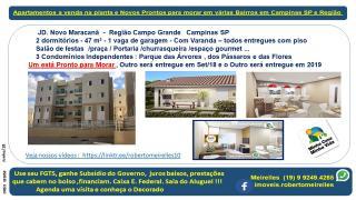 Campinas: Apartamento a Venda na planta em vários Bairros Campinas e região 4