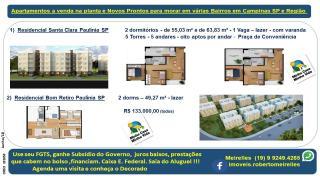 Campinas: Apartamento a Venda na planta em vários Bairros Campinas e região 6