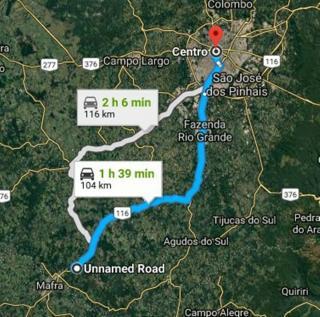 Rio Negro: Chácara a 800 metros da R. Bittencourt (BR-116). 8