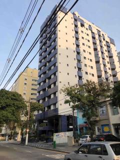Santos: Apartamento em Santos, 1 quarto, 2 banheiros, Sacada e Garagem 1