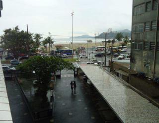 São Vicente: Apartamento de frente para praia 1