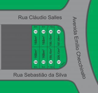 Itupeva: Oito (08) terrenos localizados no Residencial Pacaembú II 1
