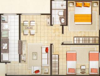 Americana: cobertura duplex spazio amaretto em amerina 2