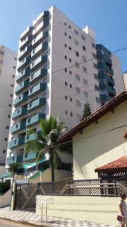 Mongaguá: Belo apto mobiliado, 2 dorm., prédio na praia  em Mongaguá-São Paulo 1