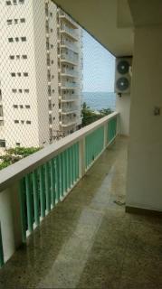Guarujá: Apartamento em Pitangueiras no Guarujá 130 Metros Quadrados Vista Lateral para o Mar 4