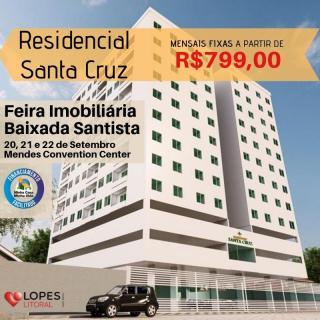 São Vicente: Apto 2 dorms, 1 vaga garagem, piscina, salão de festas, monitoramento 24h 1