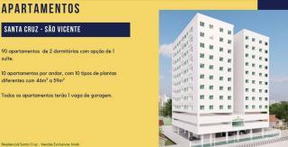 São Vicente: Apto 2 dorms, 1 vaga garagem, piscina, salão de festas, monitoramento 24h 2