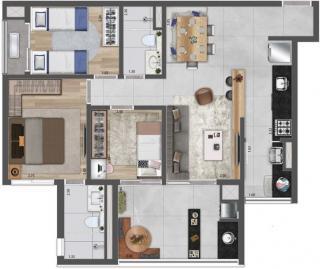 São Paulo: Apartamento 3 Dormitório 1 suíte - Butantã 1