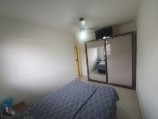 Santos: Apartamento 2 quartos, suite e WC social, reformado, garagem demarcada, bx condomínio 4