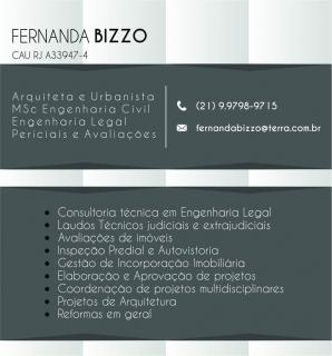 Fernanda V Bizzo Serviços de Arquitetura e Perícias
