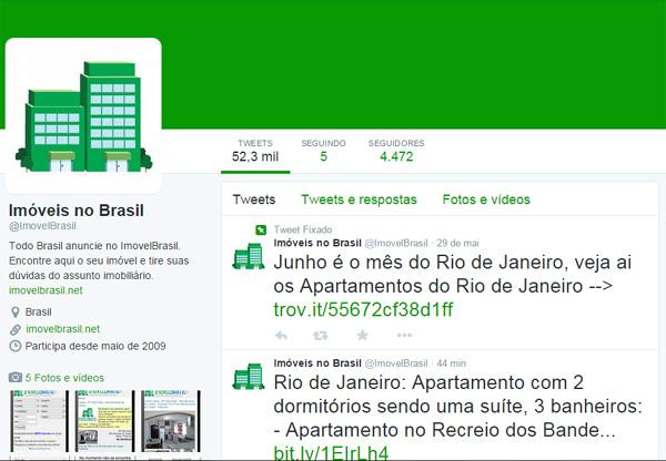 ImovelBrasil e Twitter